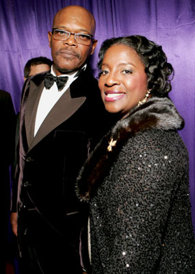 Samuel L. Jackson and wife LaTanya Richardson InStyle/Warner Bros. Golden Globes Party The Palm Court at the Beverly Hilton - Beverly Hills, CA - 1/16/05