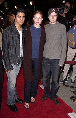 Premiere: Wilmer Valderrama, Laura Prepon and Topher Grace at the Westwood premiere of Dimension's Get Over It - 3/8/2001