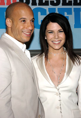 Premiere: Vin Diesel and Lauren Graham at the Hollywood premiere of Walt Disney Pictures' The Pacifier - 3/1/2005