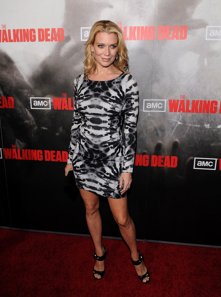 "Laurie Holden attends the Los Angeles premiere of ""The Walking Dead"" held at ArcLight Cinemas Cinerama Dome on October 26, 2010 in Hollywood, California."