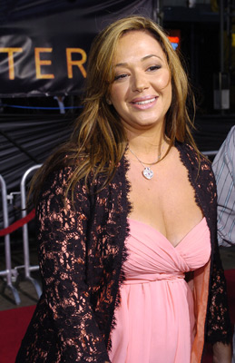 Premiere: Leah Remini at the LA premiere of Dreamworks SKG's Collateral - 2004