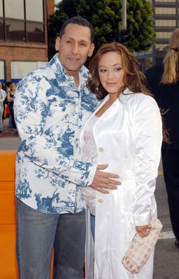 Premiere: Angelo Pagan and Leah Remini at the LA premiere of 20th Century Fox's Man on Fire - 4/18/2004