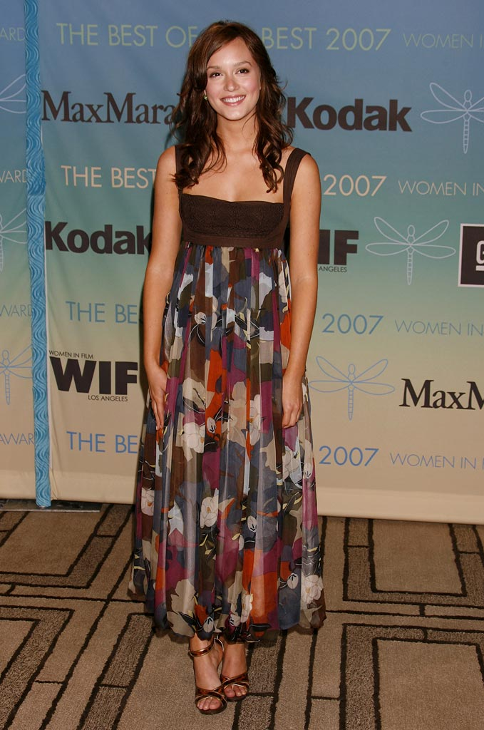 Leighton Meester of Gossip Girl at the Women In Film Presents The 2007 Crystal and Lucy Awards.