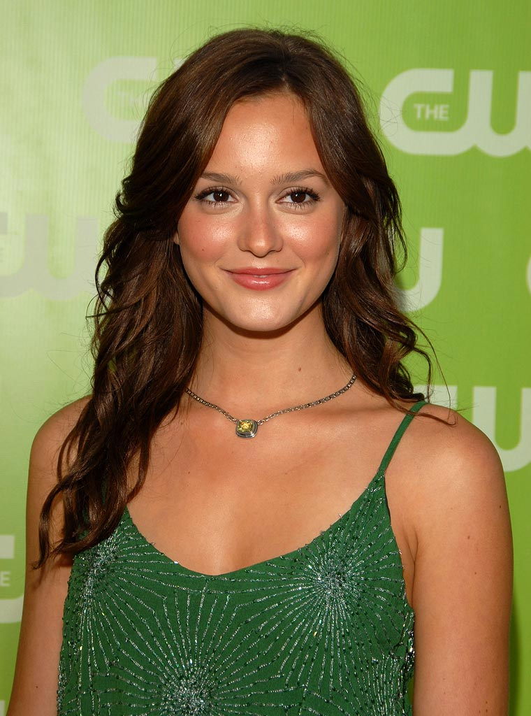 Leighton Meester arrives at The CW TCA Party held at the Pacific Design Center.