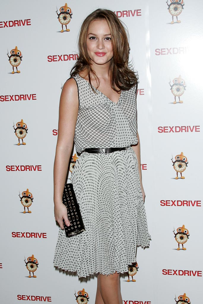"Leighton Meester attends the premiere of ""Sex Drive"" at the Tribeca Grand Hotel on October 12, 2008 in New York City, New York."