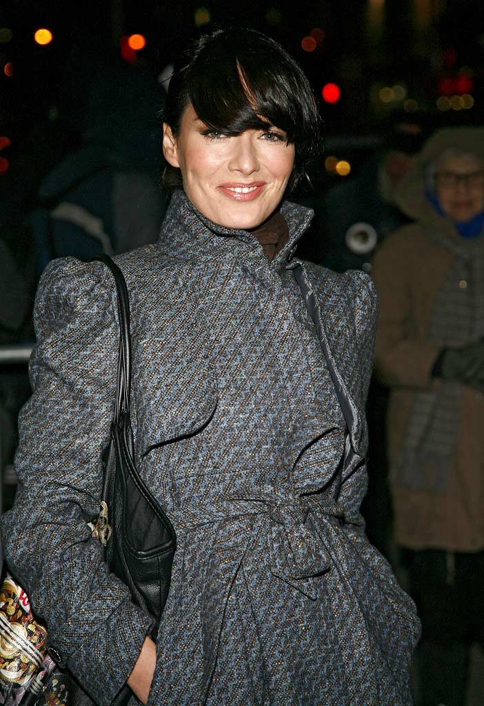 "Lena Headey visits ""Late Show with David Letterman"" at the Ed Sullivan Theater on January 30, 2008 in New York City."