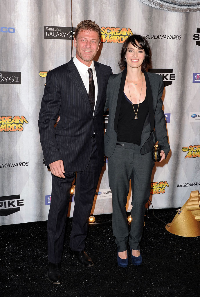 "Sean Bean and Lena Headey arrive at Spike TV's ""Scream 2011"" at Universal Studios on October 15, 2011 in Universal City, California."