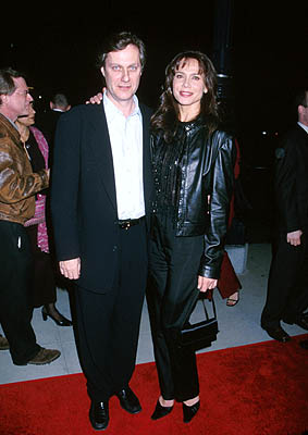 Premiere: Lasse Hallstrom and Lena Olin at the Beverly Hills premiere of Miramax Films' Chocolat - 12/11/2000