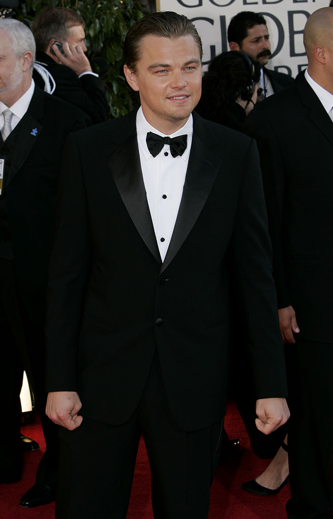 Leonardo DiCaprio at the 64th annual Golden Globe Awards.