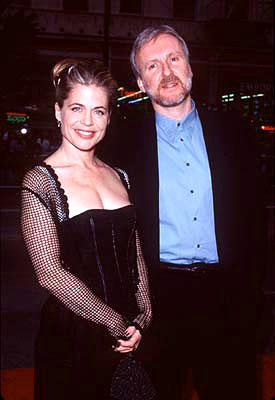 Premiere: Linda Hamilton and James Cameron at the premiere of Paramount's Titanic - 12/14/1997