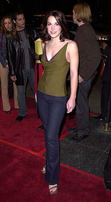 Premiere: Lindsay Sloane at the Hollywood premiere of Warner Brothers' Valentine - 2/1/2001
