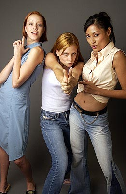 Lindy Booth, Tara Spencer-Nairn and Kira Clavell Rub & Tug Toronto Film Festival - 9/10/2002