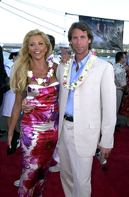 "Premiere: ""Playboy"" Playmate Lisa Dergan and Michael Bay aboard the USS John C. Stennis at the Honolulu, Hawaii premiere of Touchstone Pictures' Pearl Harbor - 5/21/2001"