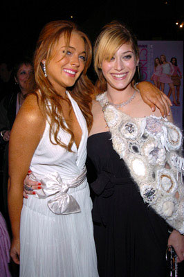 Premiere: Lindsay Lohan and Lizzy Caplan at the New York premiere of Paramount's Mean Girls - 4/23/2004