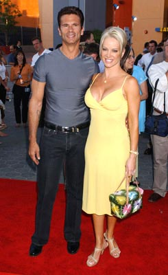 Premiere: Lorenzo Lamas and Barbara Moore at the L.A. premiere of Universal Pictures' Van Helsing - 5/3/2004