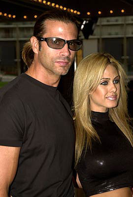 Premiere: Lorenzo Lamas and Shauna Sand Lamas at the premiere of Screen Gems' Two Can Play That Game - 8/29/2001