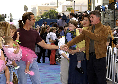 Premiere: Lorenzo Lamas and Alan Thicke at the Hollywood premiere of Monsters, Inc. - 10/28/2001