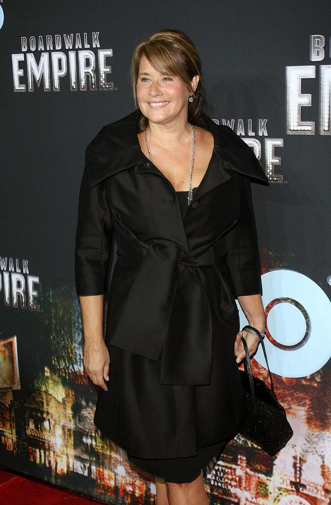 "Lorraine Bracco attends the premiere of ""Boardwalk Empire""at the Ziegfeld Theatre on September 15, 2010, in New York City."
