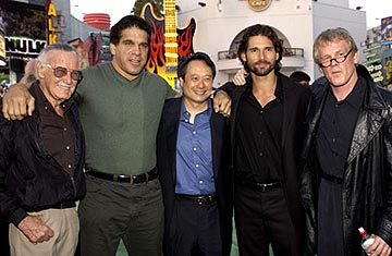 Premiere: Stan Lee, Lou Ferrigno, Ang Lee, Eric Bana and Nick Nolte at the LA premiere of Universal's The Hulk - 6/17/2003