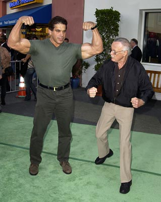 Premiere: Lou Ferrigno and Stan Lee at the LA premiere of Universal's The Hulk - 6/17/2003