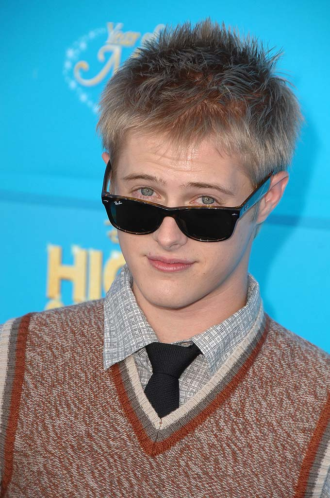 Lucas Grabeel arrives at the world premiere of High School Musical 2 at Downtown Disney.