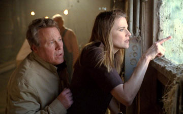 John Heard and Lucy Lawless CBS's Locusts