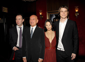 Premiere: Paul McGuigan, Ben Kingsley, Lucy Liu, Josh Hartnett at the NY premiere of The Weinstein Company's Lucky Number Slevin - 2/21/2006