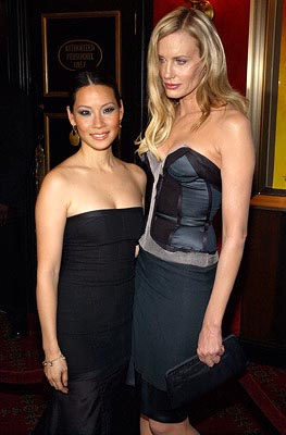 Premiere: Lucy Liu and Daryl Hannah at the New York premiere of Miramax's Kill Bill: Volume 1 - 10/7/2003