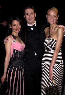Lucy Liu, Darren Aronofsky and James King 73rd Academy Awards Vanity Fair Party Beverly Hills, CA 3/25/2001