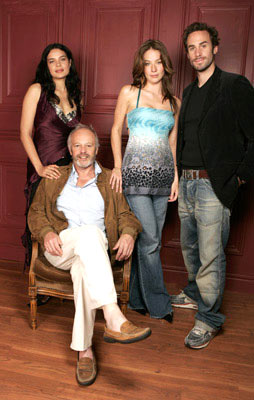 Zuileika Robinson, director Michael Radford, Lynn Collins and Joseph Fiennes 2004 Toronto International Film Festival - The Merchant of Venice Portraits