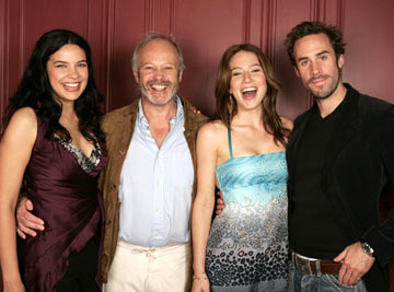 Zuileikha Robinson, director Michael Radford, Lynn Collins and Joseph Fiennes 2004 Toronto International Film Festival - The Merchant of Venice Portraits