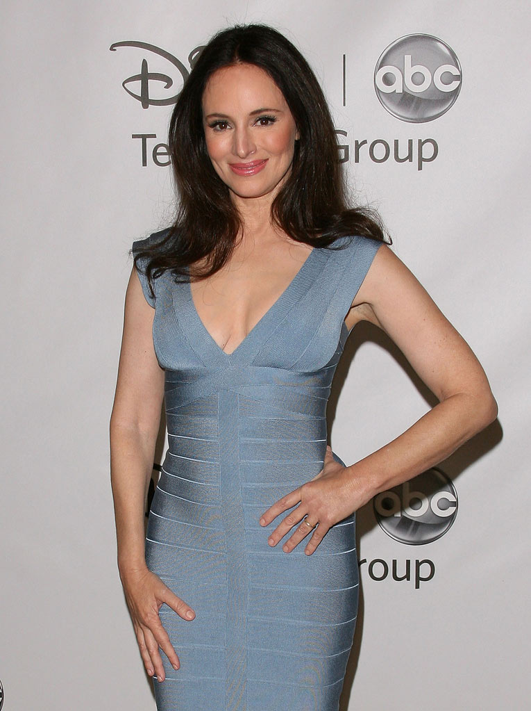 "Madeleine Stowe of ""Revenge"" attends the Disney ABC Televison Group's 'TCA 2001 Summer Press Tour' at the Beverly Hilton Hotel on August 7, 2011 in Beverly Hills, California."