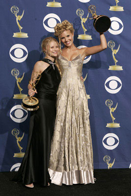 "Emilie de Ravin and Maggie Grace of ""Lost"" 57th Annual Emmy Awards Press Room - 9/18/2005"