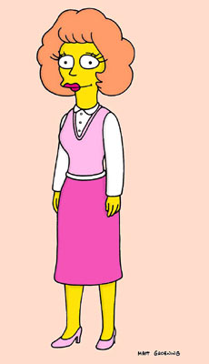 Maude Flanders (voiced by Maggie Roswell) Fox's The Simpsons