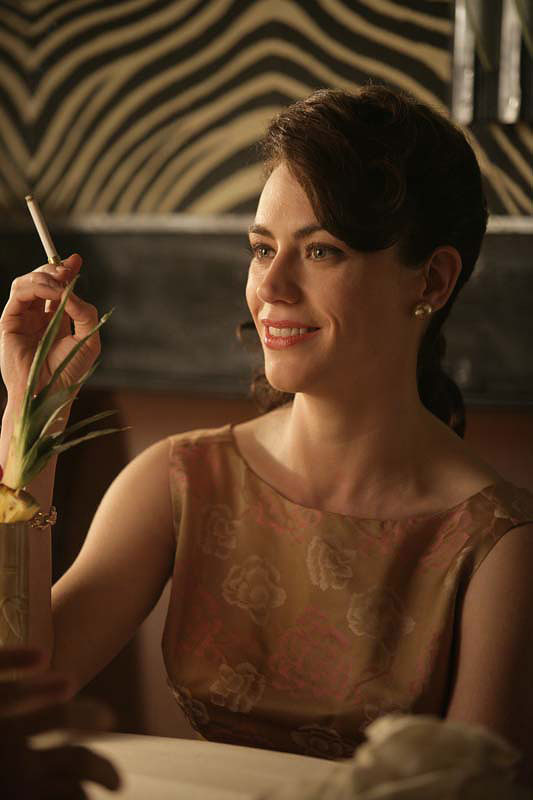 Maggie Siff plays Rachel Menken, a potential Sterling Cooper client in Mad Men.