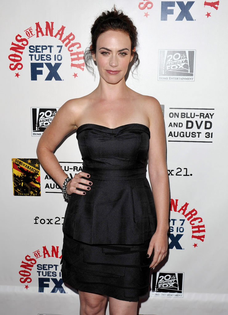 "Maggie Siff attends FX's ""Sons Of Anarchy"" Season 3 premiere on August 30, 2010, in Hollywood."