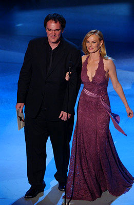 Quentin Tarantino and Marg Helgenberger Emmy Awards - 9/18/2005