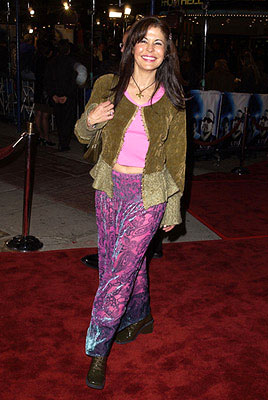 Premiere: Maria Conchita Alonso wearing purple pants at the Westwood premiere of K-Pax - 10/22/2001