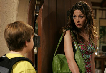 "Angus T. Young and Marin Hinkle CBS' ""Two and a Half Men"""