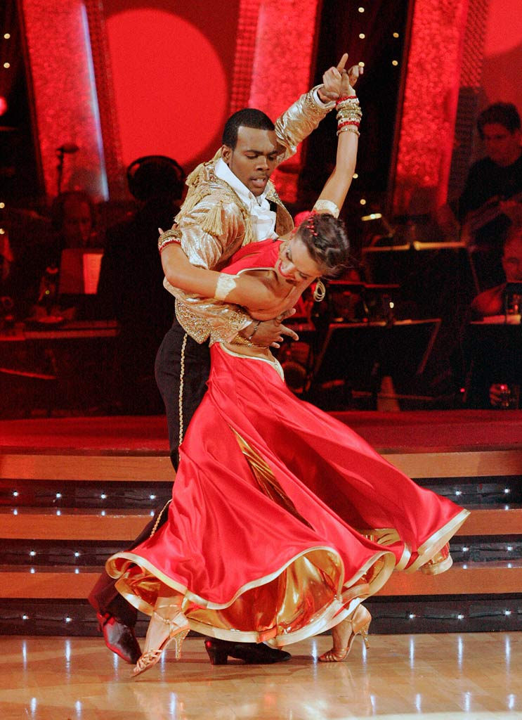 Mario and Karina Smirnoff perform a dance on the sixth season of Dancing with the Stars.