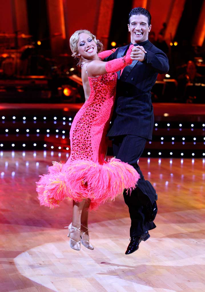 Sabrina Bryan and Mark Ballas perform a dance on the 5th season of Dancing with the Stars.