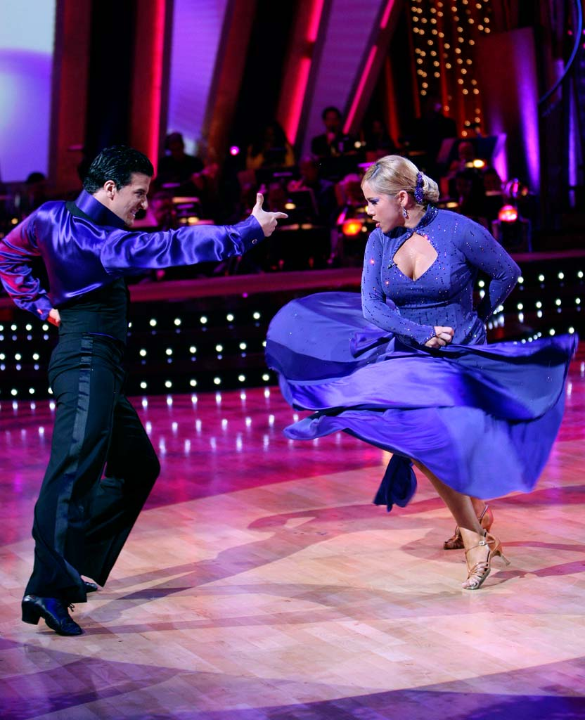 Mark Ballas and Sabrina Bryan perform a dance on the 5th season of Dancing with the Stars.