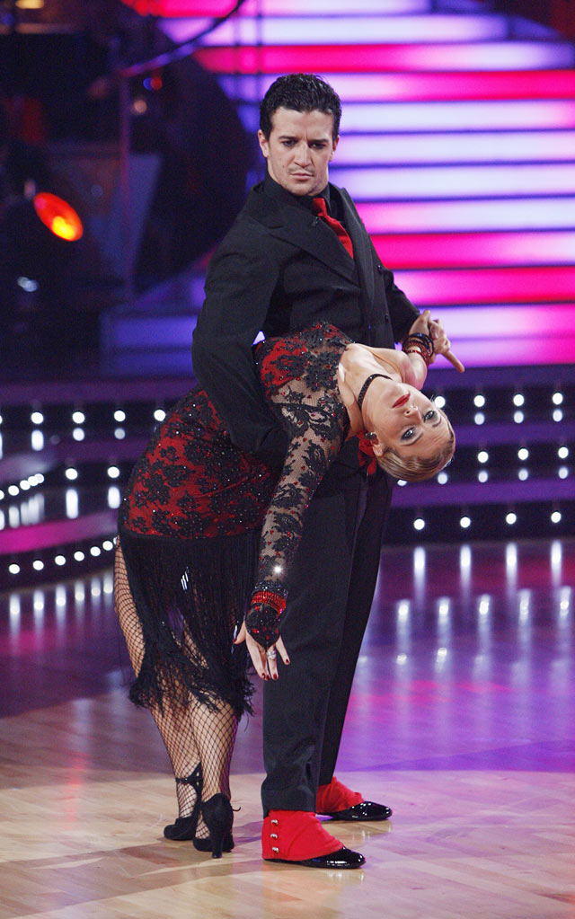 "Melissa Joan Hart and Mark Ballas perform on ""Dancing with the Stars."""