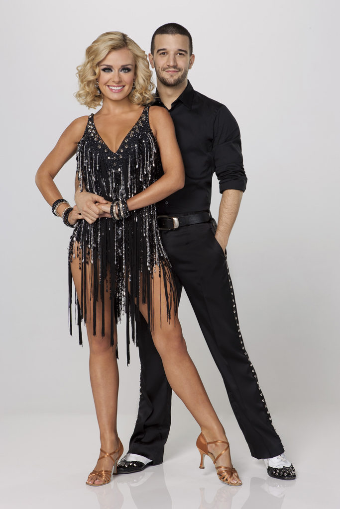 "Katherine Jenkins teams with professional dancer Mark Ballas on Season 14 of ""Dancing With the Stars."""