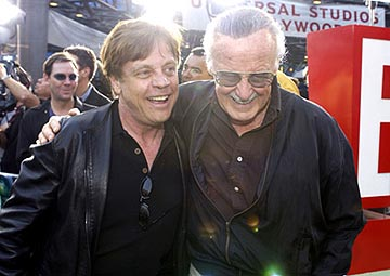 Premiere: Mark Hamill and Stan Lee at the LA premiere of Universal's The Hulk - 6/17/2003