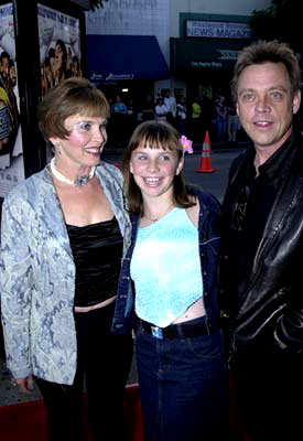 Premiere: Mark Hamill with daughter Chelsea and wife Marylou at the Westwood premiere of Dimension's Jay and Silent Bob Strike Back - 8/15/2001