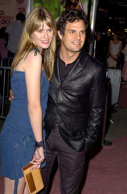 Premiere: Sunrise Coigney and Mark Ruffalo at the L.A. premiere of Revolution Studios' 13 Going on 30 - 4/14/2004
