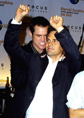 Jim Carrey and Mark Ruffalo Eternal Sunshine of The Spotless Mind DVD Release Party - 9/23/04