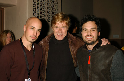 Austin Chick, Robert Redford and Mark Ruffalo XX/XY Screening Sundance Film Festival 1/15/2002