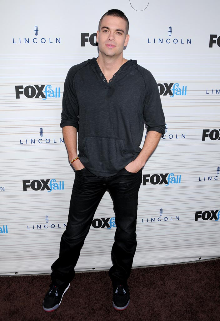 "Mark Salling of ""Glee"" arrives at the 2010 Fox Fall Eco-Casino party on September 13, 2010, at Boa in West Hollywood."